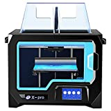 Qidi Tech 3D Printer, New Model: X-pro, 4.3 Inch Touchscreen, Dual Extruder with 2 Spool of...