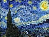 Poster 40 x 30 cm: Sternennacht von Vincent Van Gogh/Master Collection - hochwertiger Kunstdruck,...