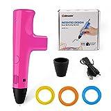 Ophysprint 3D Drucker Stift Set DIY Scribbler 3D Stereoscopic Printing Pen Drawing, 3 x 10M PLA...