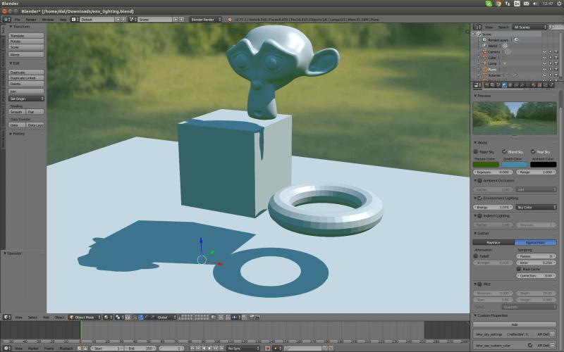 Screenshot Blender 3D-Creation-Software