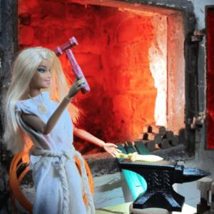 3d-modell barbie schmiedehammer
