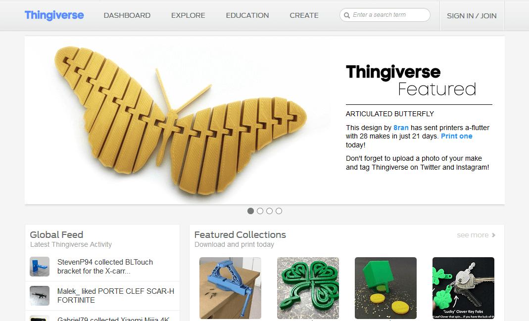 thingiverse 3d printing models
