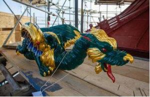 3d-systems 3d-gedruckte drachen replika 3d printed dragon