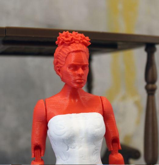 3d-modell frida kahlo 3d model